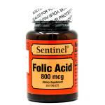 Sentinel Folic Acid 800 mcg